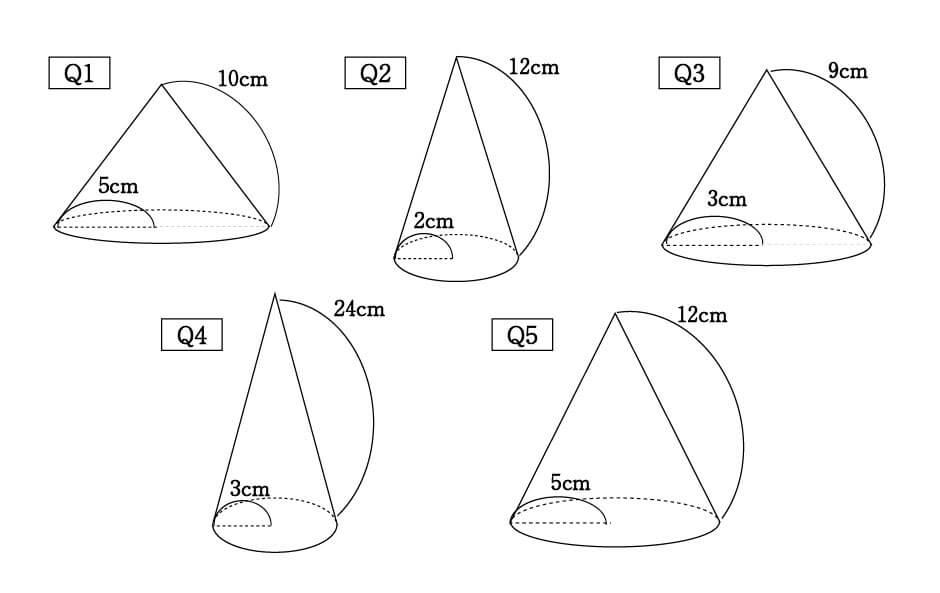 角 求め 公式 中心 の 方 扇形 の おうぎ形 中心角